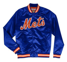 Load image into Gallery viewer, Mitchell & Ness New York Mets Satin Varsity Light Jacket