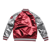 Load image into Gallery viewer, Mitchell & Ness Philadelphia Phillies Burgundy Satin Varsity Jacket