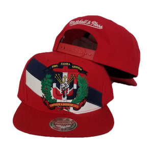 Mitchell & Ness Red Dominican Republic DR Country Flag Snapback