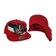 Load image into Gallery viewer, Mitchell & Ness Red Dominican Republic DR Country Flag Snapback