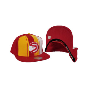 Mitchell & Ness Red / Yellow Atlanta Hawks Snapback Hat