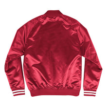 Load image into Gallery viewer, Mitchell & Ness Scrip Chicago Bulls Red Satin Varsity Light Jacket