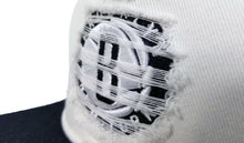 Load image into Gallery viewer, Mitchell & Ness White / Black Destructed Brooklyn Nets snapback
