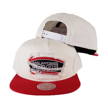 Load image into Gallery viewer, Mitchell & Ness White / Red Destructed San Antonio Spurs snapback