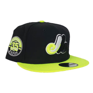 Montreal Expos Black Neon Green Cooperstown New Era 9Fifty Snapback