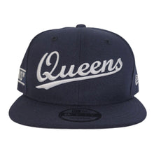Load image into Gallery viewer, NAVY BLUE NEW ERA 9FIFTY QUEENS SNAPBACK HAT