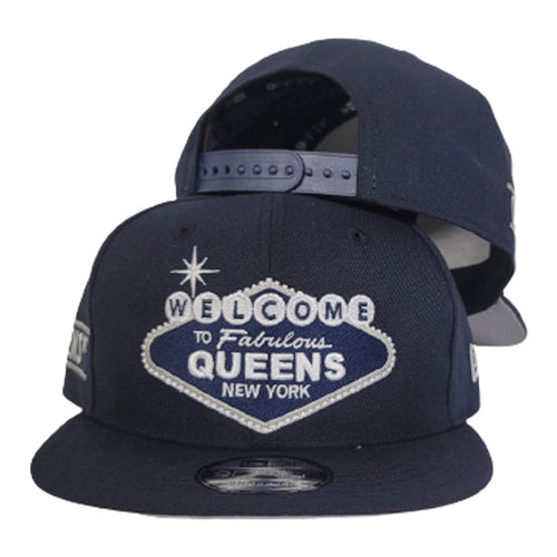 NAVY BLUE NEW ERA 9FIFTY WELCOME TO QUEENS SNAPBACK