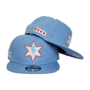 NBA Logo Man Chicago Bulls New Era Light Blue All-Star Game Flag Hook 9FIFTY Snapback Hat