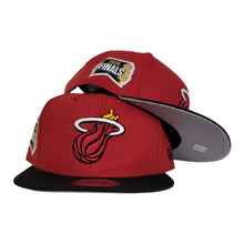 Load image into Gallery viewer, NEW ERA 2TONE MIAMI HEAT NBA FINALS SIDE PATCH 9FIFTY SNAPBACK