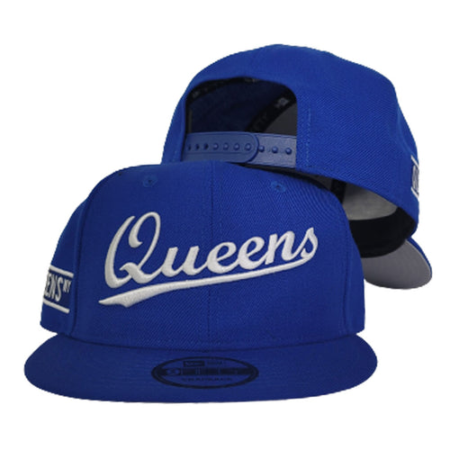 NEW ERA 9FIFTY ROYAL BLUE QUEENS SNAPBACK HAT