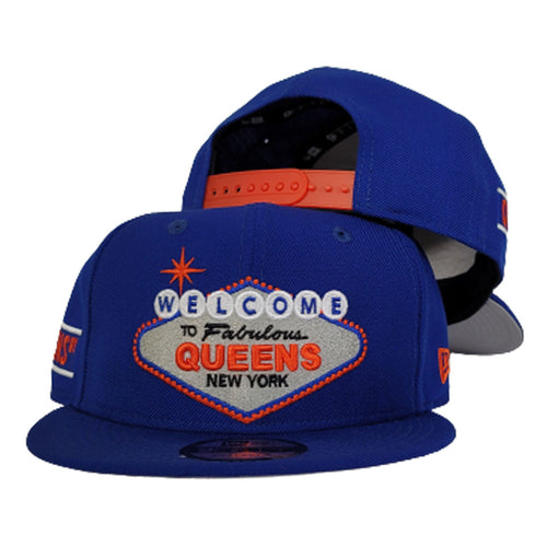 NEW ERA 9FIFTY ROYAL BLUE WELCOME TO QUEENS SNAPBACK HAT