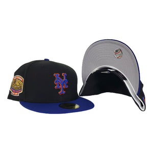 NEW ERA BLACK / BLUE NEW YORK METS 1964-2008 SHEA STADIUM SIDE PATCH FITTED