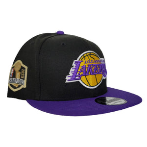 NEW ERA BLACK / PURPLE 2TONE LOS ANGELES LAKERS NBA CHAMPIONS SIDE PATCH 9FIFTY SNAPBACK