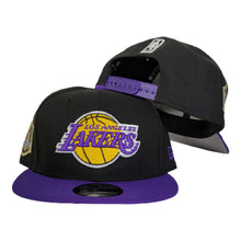 Load image into Gallery viewer, NEW ERA BLACK / PURPLE 2TONE LOS ANGELES LAKERS NBA CHAMPIONS SIDE PATCH 9FIFTY SNAPBACK