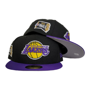 NEW ERA BLACK / PURPLE 2TONE LOS ANGELES LAKERS NBA FINALS SIDE PATCH 59FIFTY FITTED