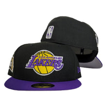 Load image into Gallery viewer, NEW ERA BLACK / PURPLE 2TONE LOS ANGELES LAKERS NBA FINALS SIDE PATCH 59FIFTY FITTED