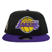 Load image into Gallery viewer, NEW ERA BLACK / PURPLE 2TONE LOS ANGELES LAKERS NBA FINALS SIDE PATCH 9FIFTY SNAPBACK