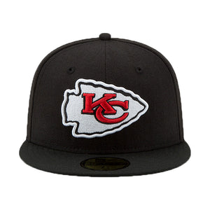 NEW ERA BLACK KANSAS CITY CHIEF SUPER BOWL LIV SIDE PATCH 59FIFTY FITTED HAT