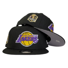Load image into Gallery viewer, NEW ERA BLACK LOS ANGELES LAKERS NBA CHAMPIONS SIDE PATCH 9FIFTY SNAPBACK