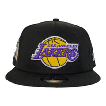 Load image into Gallery viewer, NEW ERA BLACK LOS ANGELES LAKERS NBA FINALS SIDE PATCH 9FIFTY SNAPBACK