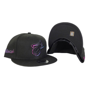 NEW ERA BLACK MIAMI HEAT CITY EDITION 9FIFTY SNAPBACK