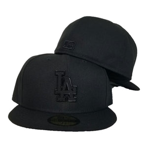 NEW ERA LOS ANGELES DODGERS BLACK METAL BADGE RHINESTONE 59FIFTY FITTED