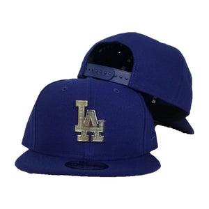 NEW ERA LOS ANGELES DODGERS SILVER METAL BADGE RHINESTONE 9FIFTY SNAPBACK