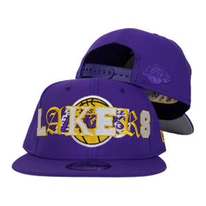 NEW ERA LOS ANGELES LAKERS MIXED FONT 9FIFTY SNAPBACK