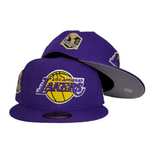 Load image into Gallery viewer, NEW ERA LOS ANGELES LAKERS NBA CHAMPIONS SIDE PATCH PURPLE 59FIFTY FITTED