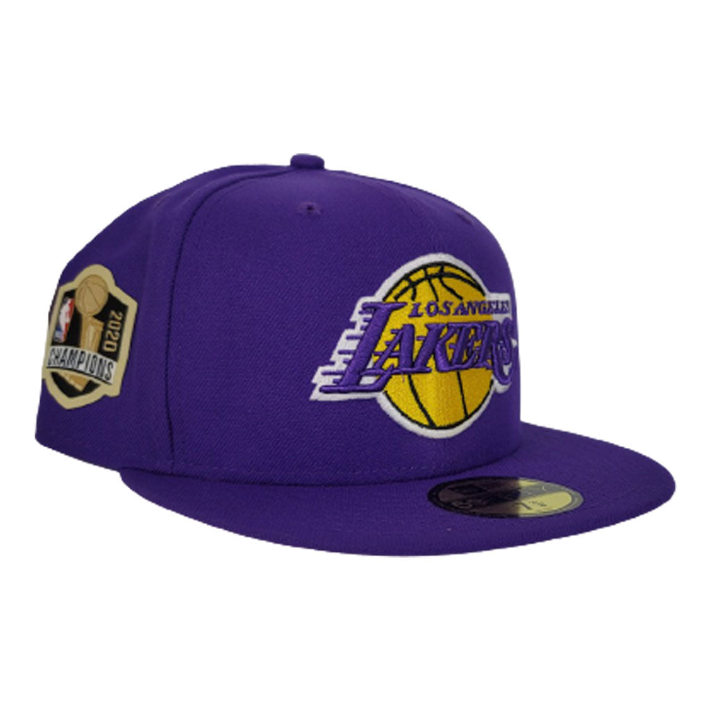 NEW ERA LOS ANGELES LAKERS NBA CHAMPIONS SIDE PATCH PURPLE 59FIFTY FITTED