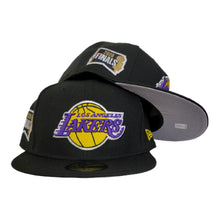 Load image into Gallery viewer, NEW ERA LOS ANGELES LAKERS NBA FINALS SIDE PATCH BLACK 59FIFTY FITTED