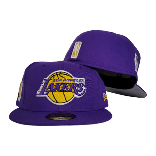 NEW ERA LOS ANGELES LAKERS NBA FINALS SIDE PATCH PURPLE 59FIFTY FITTED