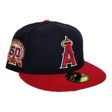 Load image into Gallery viewer, NEW ERA NAVY / RED LOS ANGELES ANGELS 50TH ANNIV. SIDE PATCH FITTED HAT