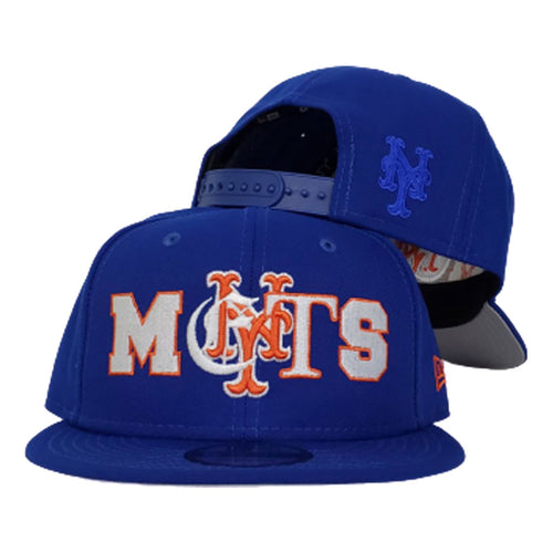 NEW ERA NEW YORK METS MIXED FONT 9FIFTY SNAPBACK