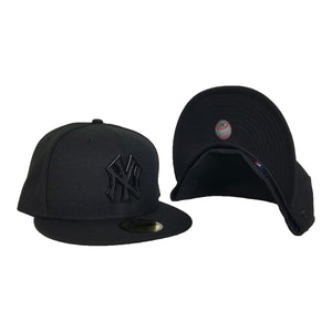 NEW ERA NEW YORK YANKEES BLACK METAL BADGE RHINESTONE 59FIFTY FITTED