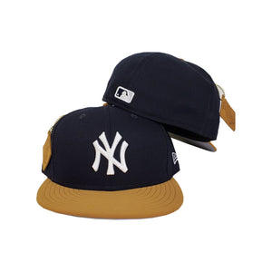 NEW ERA NEW YORK YANKEES PATCHED UP TIMBERLAND HOOK NAVY / WHEAT 59FIFTY FITTED HAT