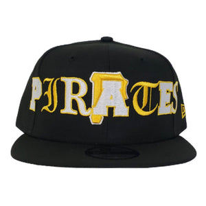 NEW ERA PITTSBURGH PIRATES MIXED FONT 9FIFTY SNAPBACK