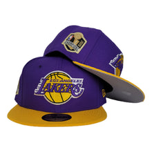 Load image into Gallery viewer, NEW ERA PURPLE / YELLOW 2TONE LOS ANGELES LAKERS NBA CHAMPIONS SIDE PATCH 59FIFTY FITTED