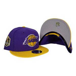 NEW ERA PURPLE / YELLOW 2TONE LOS ANGELES LAKERS NBA CHAMPIONS SIDE PATCH 9FIFTY SNAPBACK