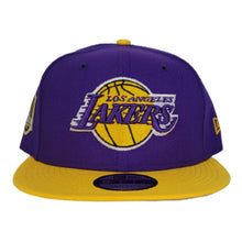 Load image into Gallery viewer, NEW ERA PURPLE / YELLOW 2TONE LOS ANGELES LAKERS NBA CHAMPIONS SIDE PATCH 9FIFTY SNAPBACK