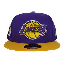 Load image into Gallery viewer, NEW ERA PURPLE / YELLOW 2TONE LOS ANGELES LAKERS NBA FINALS SIDE PATCH 59FIFTY FITTED