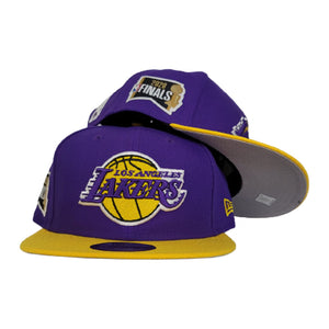 NEW ERA PURPLE / YELLOW 2TONE LOS ANGELES LAKERS NBA FINALS SIDE PATCH 9FIFTY SNAPBACK