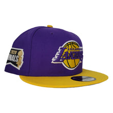 Load image into Gallery viewer, NEW ERA PURPLE / YELLOW 2TONE LOS ANGELES LAKERS NBA FINALS SIDE PATCH 9FIFTY SNAPBACK