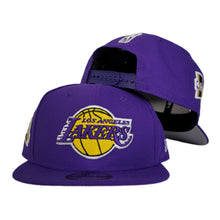 Load image into Gallery viewer, NEW ERA PURPLE LOS ANGELES LAKERS NBA FINALS SIDE PATCH 9FIFTY SNAPBACK