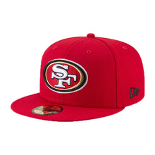 Load image into Gallery viewer, NEW ERA SAN FRANCISCO 49ERS SUPER BOWL LIV SIDE PATCH 59FIFTY FITTED HAT