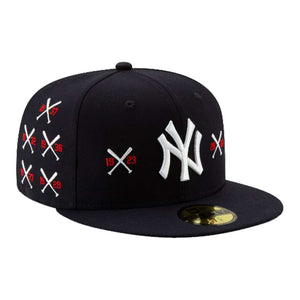 NEW ERA SPIKE LEE X NEW YORK YANKEES CHAMPIONSHIP CROSSED BAT 59FIFTY FITTED HAT