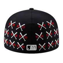 Load image into Gallery viewer, NEW ERA SPIKE LEE X NEW YORK YANKEES CHAMPIONSHIP CROSSED BAT 59FIFTY FITTED HAT