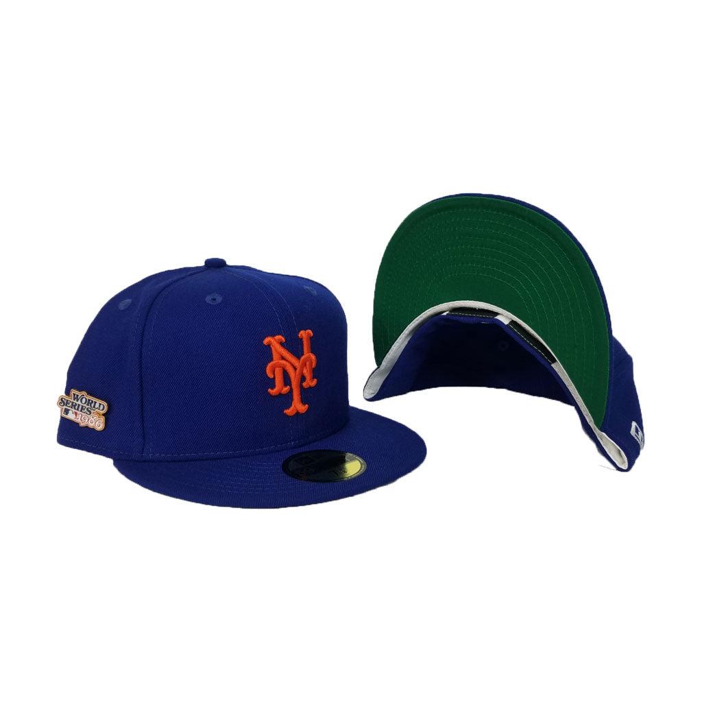 NEW YORK METS 1986 WORLD SERIES METAL PIN NEW ERA 59FIFTY FITTED HAT