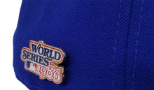 Load image into Gallery viewer, NEW YORK METS 1986 WORLD SERIES METAL PIN NEW ERA 59FIFTY FITTED HAT