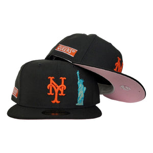 NEW YORK METS BLACK PINK BOTTOM STATUE OF LIBERTY NEW ERA 59FIFTY FITTED HAT